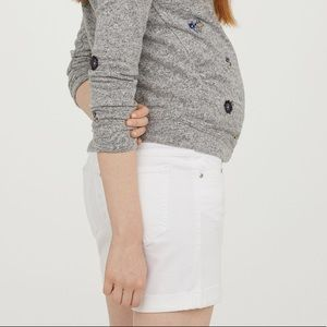 43d9cfed5c67d H&M Shorts | Nwt Mama Maternity Boyfriend White Denim | Poshmark